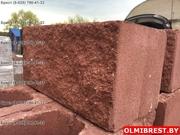 Блок цементно-песчаный декоративный цветной - foto 1