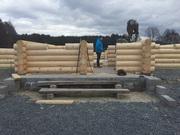 Изготовление домов и бань из оцилиндрованного бревна. - foto 8